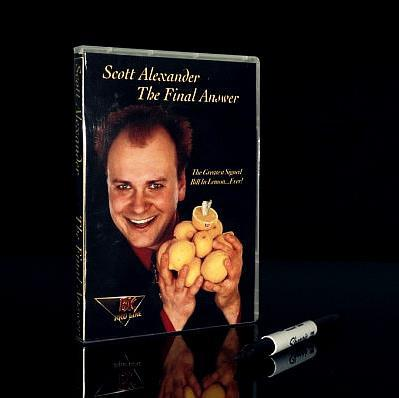The Final Answer - Bill In Lemon Magic Tricks (Gimmick + DVD) Stage Close Up Magic Props  Comedy Mentalism Accessories