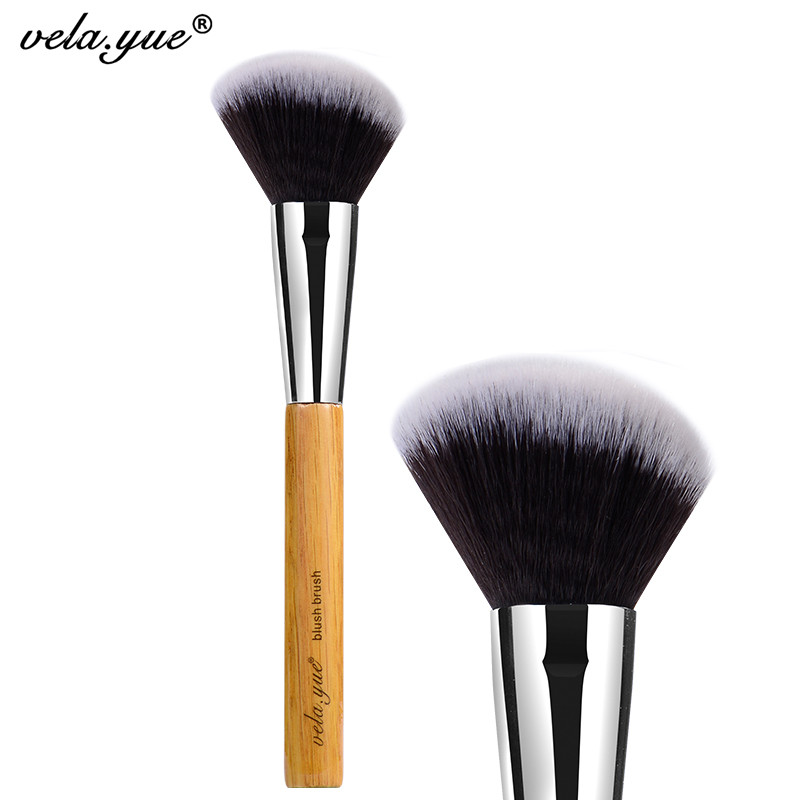 vela.yue Angled Blush Brush Synthetic Face Cheek Contour Bronzer Blush Powder Makeup Tool jbl pulse 2