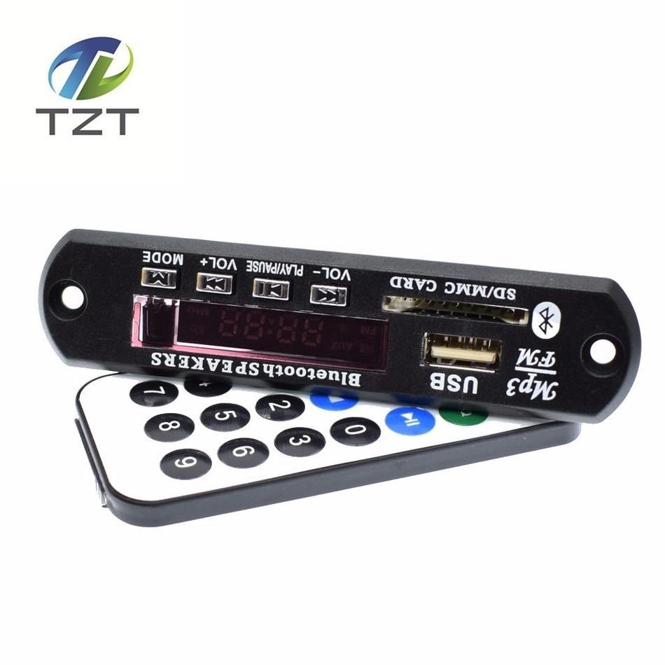 DC 5V Micro USB Power Supply Bluetooth Hands LCD Screen MP3 Player KIT FLAC WMA WAV decoder audio board FM Radio SD Module
