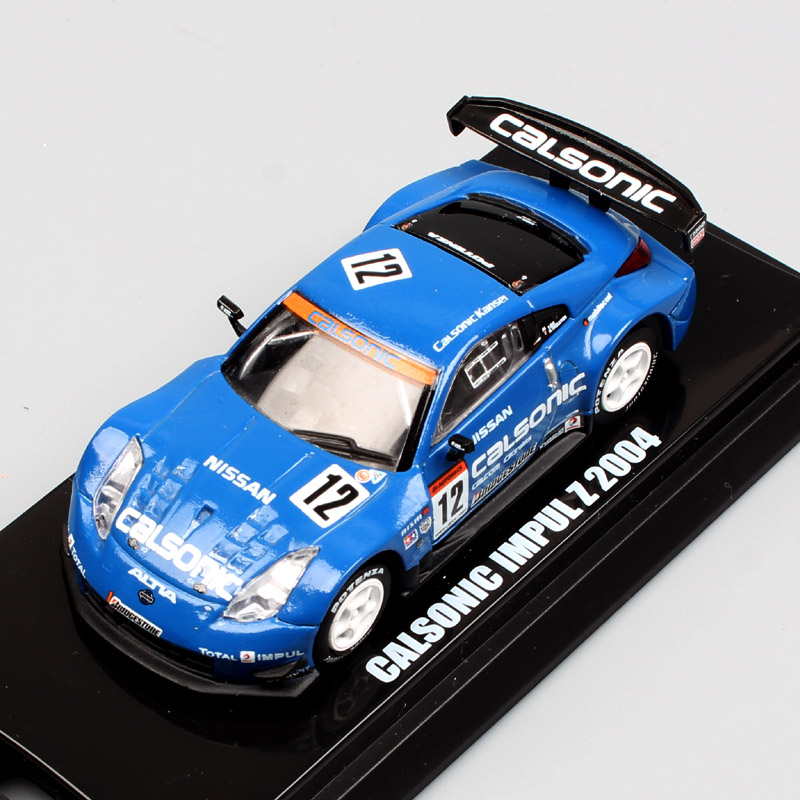 1:64 Japan Kyosho JGTC 2004 No.22 Motul Pitwork Z Nissan Fairlady NISMO #12 Calsonic Impul Racing super GT car Diecast model toy