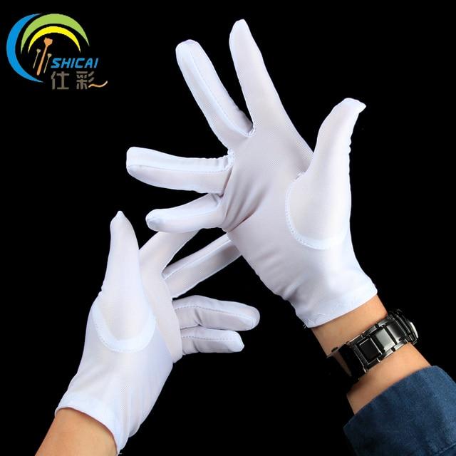 aa9e6178e7 5 par białe rękawiczki rękawice wykonanie magiczne rekwizyty dorosłych  dzieci boże narodzenie przebranie na Halloween