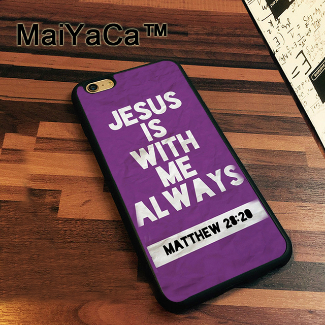 MaiYaCa Jesus Purple Matthew Bible Verse Quote Case For IPhone 7 Cases  Rubber Coque For IPhone7