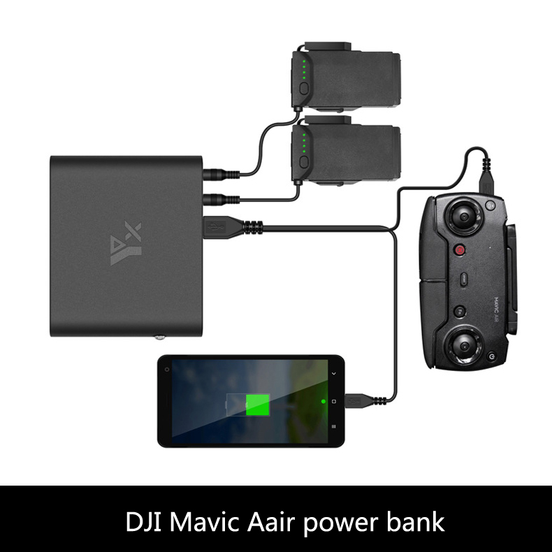 DJI mavic air drone quadcopter with camere accessiories spare part power bank for battery tansmitter remote