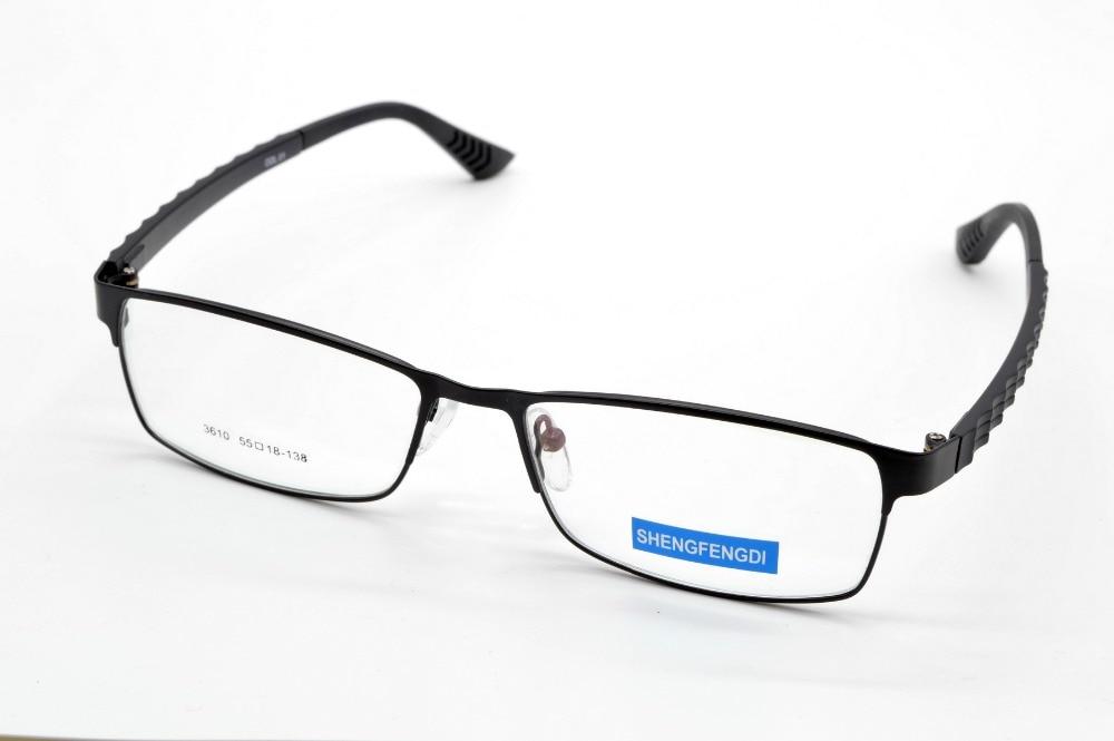 new full rim alloy fashion super ligth black glasses frame custom made optical myopia and reading glasses lens1152253to6