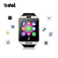 Для мужчин дамы Q18 Шагомер Bluetooth Smart Watch Sport шагомер с Сенсорный экран SIM Камера Smartwatch для Android IOS Телефон