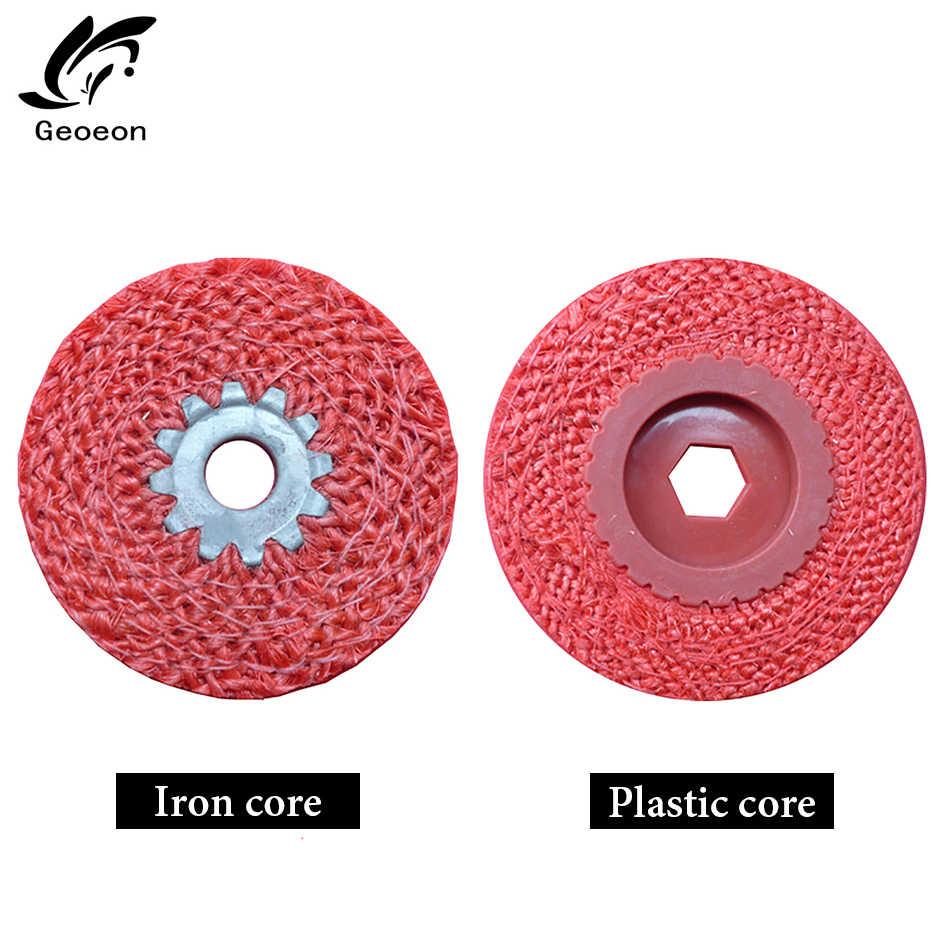 1 PC Discos Flap Roda de Polimento Para Polimento De Metais de Moagem Rodas Flap Discos de Cânhamo ngle Grinder Lixar Discos de Metal Plástico d68