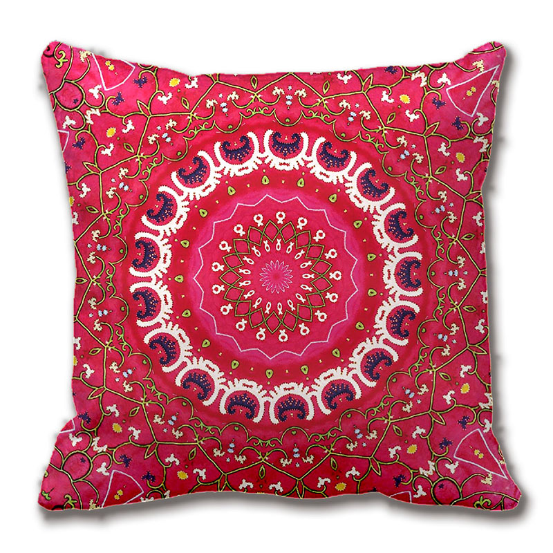 Tribal Southwest Geometric Boho Pattern Pink Throw Pillow Decorative Cushion Cover Pillow Case Two Sides Printing By Lvsure