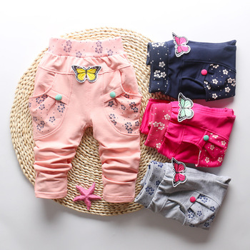 Butterfly Patterned Pants for Baby Girl 6