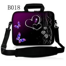 Hearts Butterfly Purple 10″ 10.1″ 10.2″ Laptop Notebook Tablet PC Shoulder Sleeve Bag Carry Case Pouch