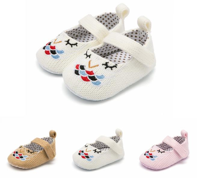 Girls Shoes Sneakers Baby Moccasins Anti-Slip Soft Boys New Crib Knitting