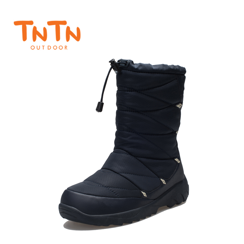 TNTN 2017 Outdoor Winter Hiking Boots Waterproof Boots Warm Fleece Snow Shoes Men Women Thermal Hiking Outdoor Walking Boots yin qi shi man winter outdoor shoes hiking camping trip high top hiking boots cow leather durable female plush warm outdoor boot