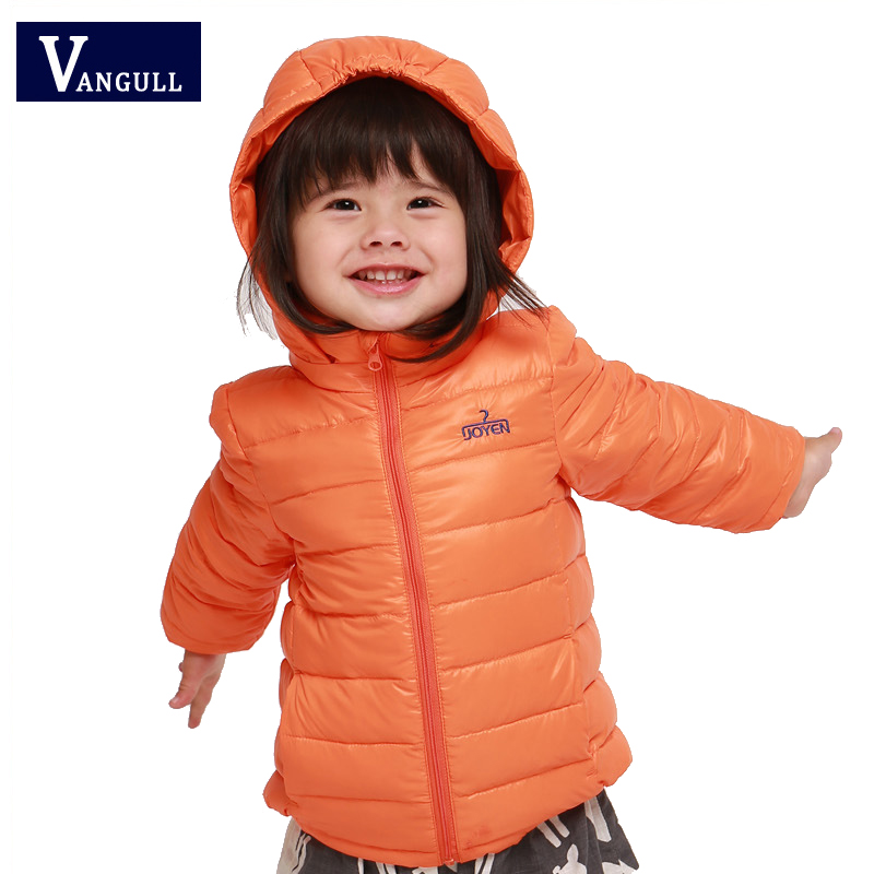 2017 new winter hot children short down jacket 2-7 boy girl Hooded Jacket 90% pure white feather pure
