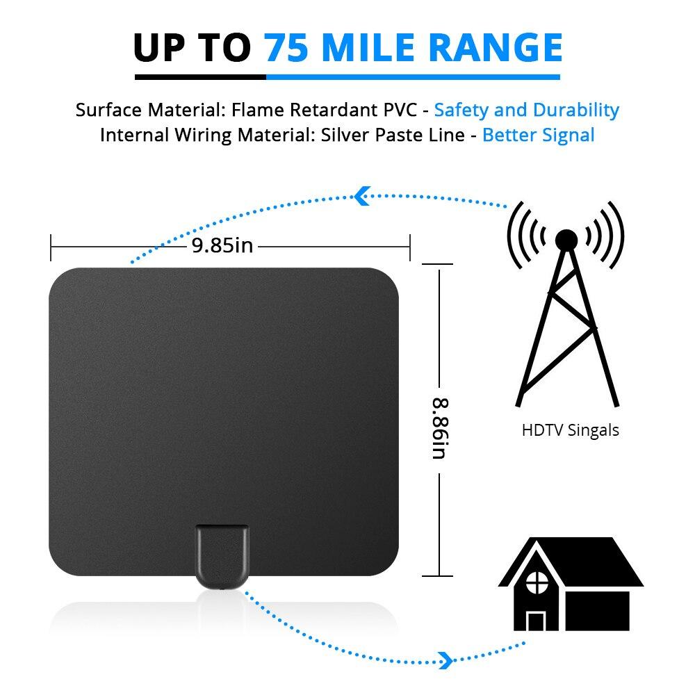 Updated 2018 Version TV Antenna, Indoor Digital HDTV Antenna ...