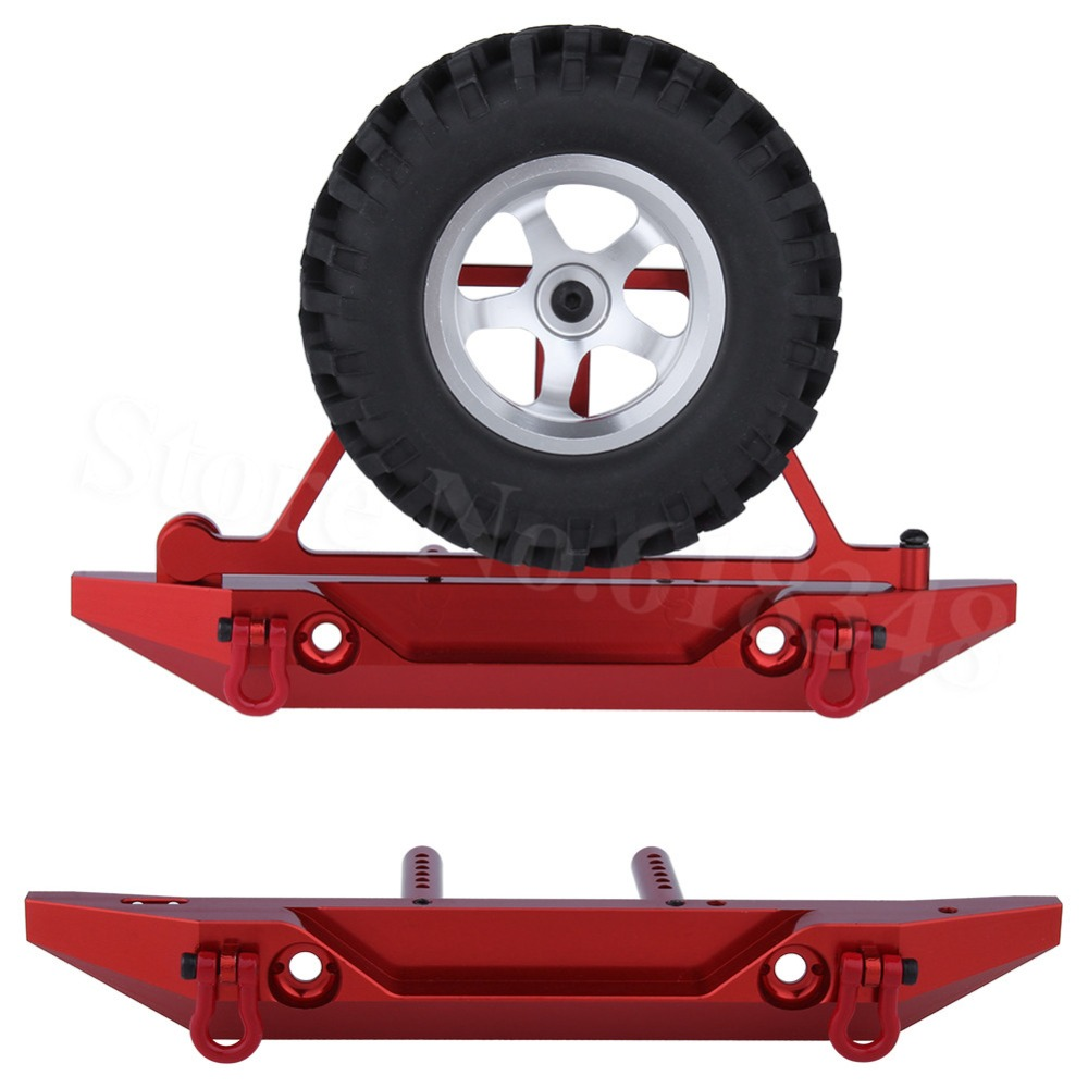 1set/lot RC Aluminum Rear Bumper with Spare Tire Carrier for 1/10th Scale AXIAL SCX10  Electric 4WD Rock Crawler1set/lot RC Aluminum Rear Bumper with Spare Tire Carrier for 1/10th Scale AXIAL SCX10  Electric 4WD Rock Crawler