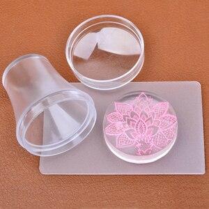 Image 5 - Rascador de estampado de uñas con tapa, placa de estampado de uñas de silicona, transparente, 2,8 cm, estampado de uñas, herramientas de manicura