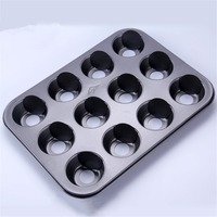 New Designed Loose Base Kitchen Bakeware Metal Cupcake Muffin Baking Mold Optional 6 Cups 12 Cavities