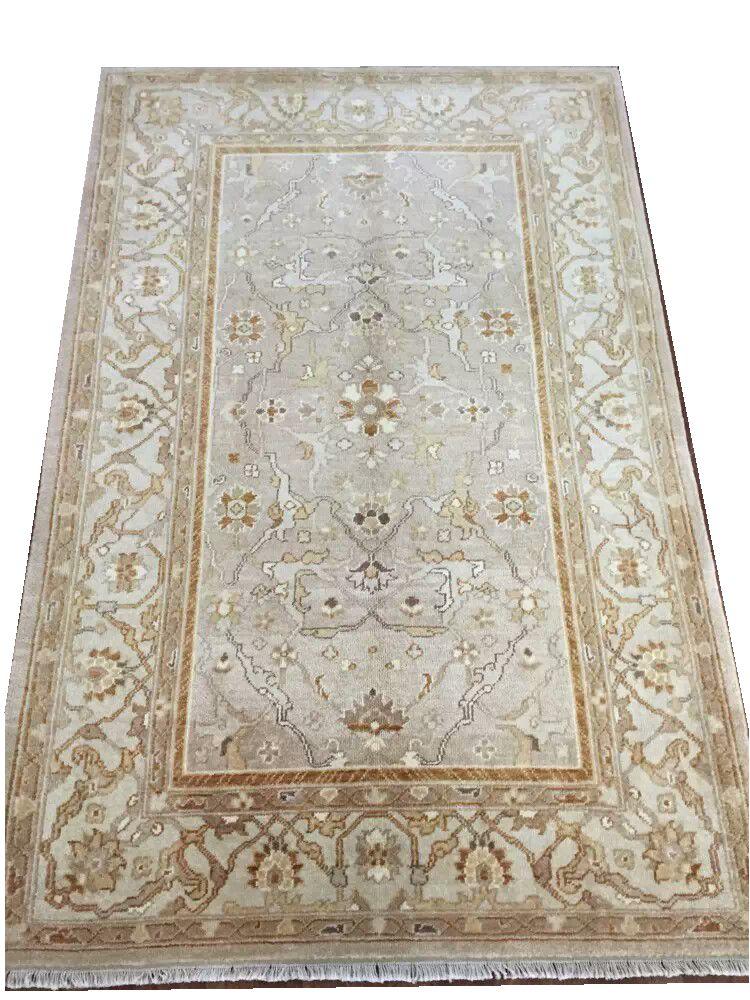 Oushak tapis grand Style Vintage Antique décor pour salon classique tricot la plante conception laine à tricoter tapis
