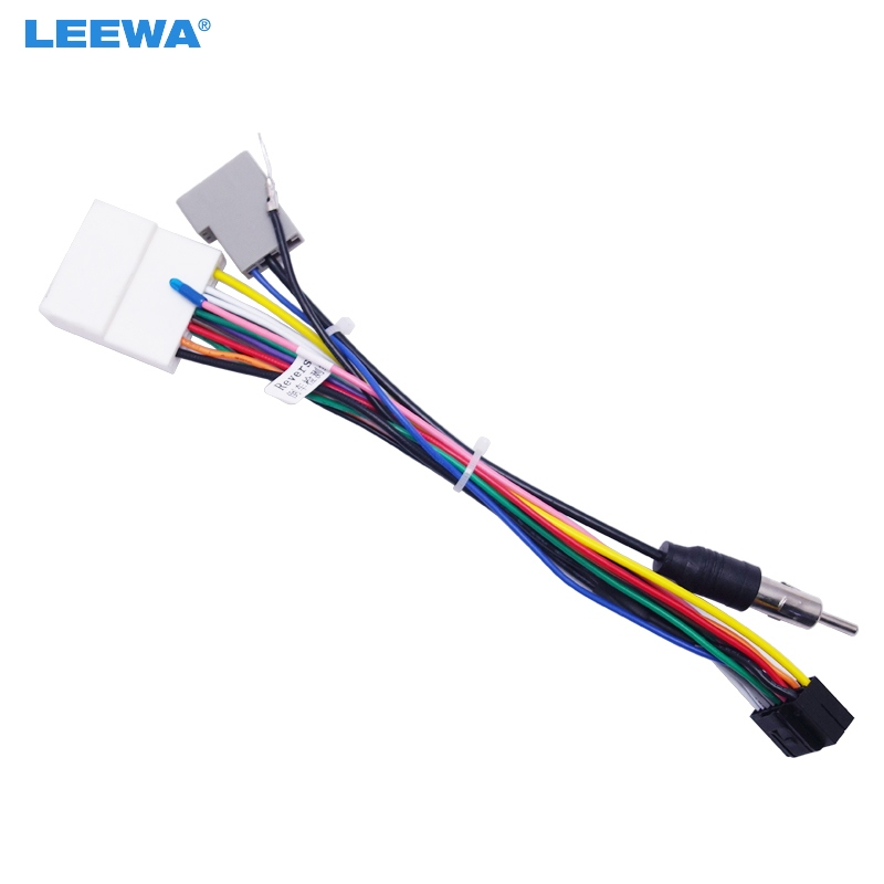 Leewa 16p Car Head Unit Wire Harness Adapter For Nissan
