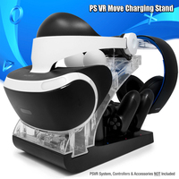Charging Station and Display Stand for PlayStation VR with sensor LED light (Black )