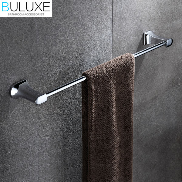 BULUXE Brass Bathroom Accessories Towel Bar Rack Holder Chrome Finished Wall Mounted Bath Acessorios de banheiro HP7713 buluxe brass bathroom accessories towel bar rack holder chrome finished wall mounted bath acessorios de banheiro hp7736