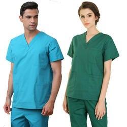 Для мужчин Для женщин Медсестра Единый Набор Рубашка Брюки медицинские скрабы кормящих Костюмы Красота униформа для салона лаборатории
