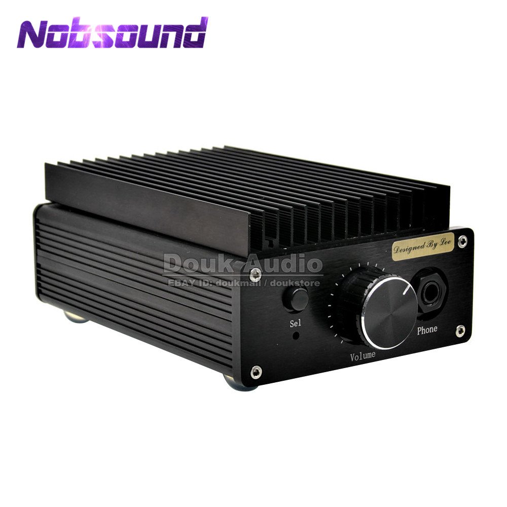 Nobsound Mini HD1969 Pure Class A Desktop Stereo Amplifier HiFi Headphone Amp With 100W High-power adapter finished a50 class a 100w 100w amplifier mjl4281 mjl4302 hifi stereo power amplifier 2018 new listing
