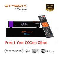 Gtmedia v8 명예 위성 튜너 지원 powervu biss key newca cccam youtube  wifi 내장 hd pvr 수신기 동일한 v8 nova