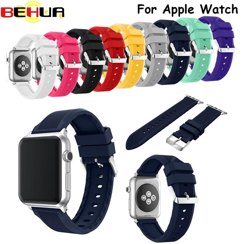 Для Apple iwatch Watch Sport мягкого силикона замена Нержавеющая сталь Булавки 38 мм 42 мм модели серии 2 серии 1 спорт издание