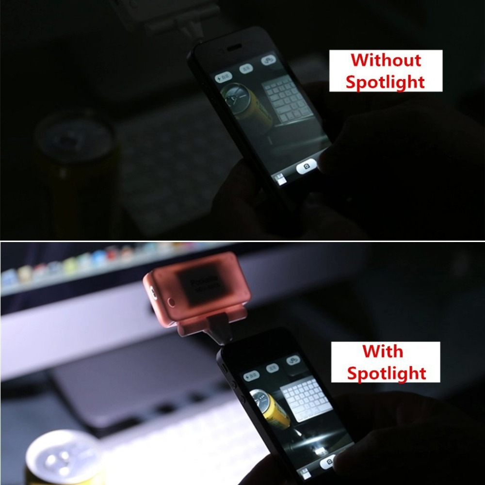 Falcon Eyes 2W Selfie LED Flash Light for mobile phone 3 power control with USB charging cable MDV-4806