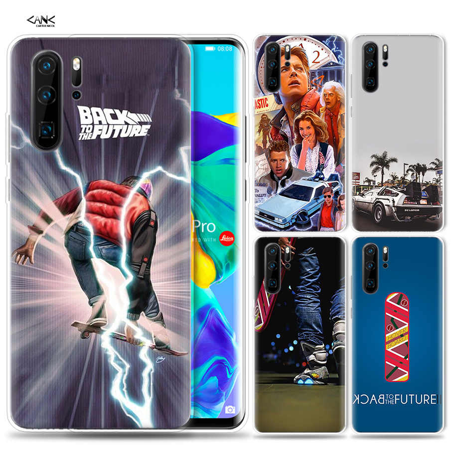 Funda para Huawei P30 P20 P10 P9 Mate 10 20 Lite Pro bolsa para teléfono móvil P Smart Z 2019 más volver al futuro P8 P30Pro P20lit