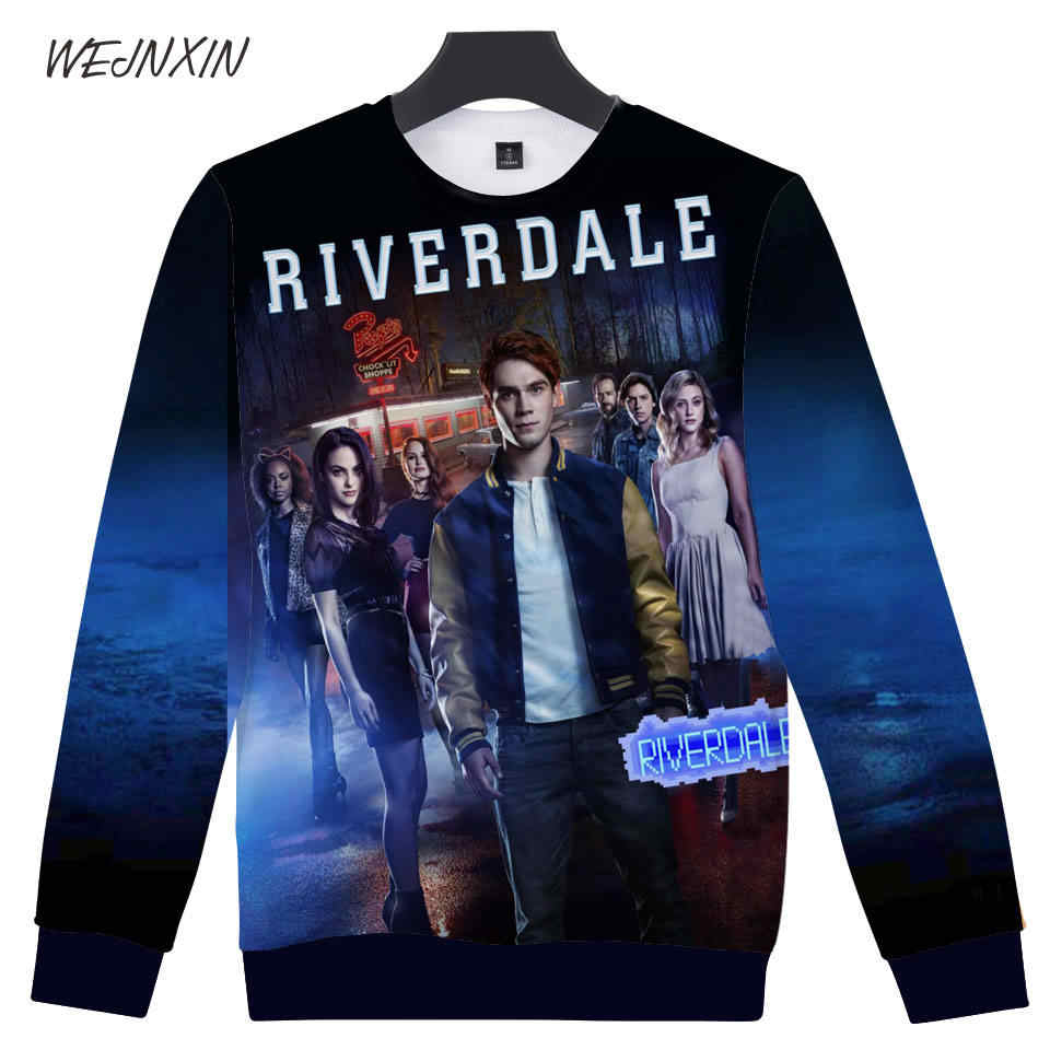 WEJNXIN Cool Riverdale 3D Print Club Wear Capless Hoodies For Women Men Sweatshirt Loose Streetwear Harajuku Team Cheap Pullover