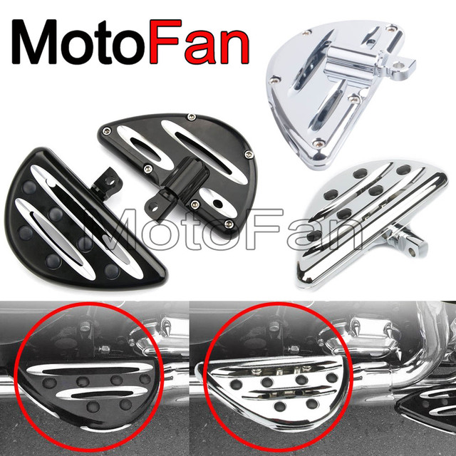 Deep Cut Motorcycle Accessories Passenger Floorboards Foot Pegs Pedal For Harley Davidson Softail Deluxe Electra Glid 1984- 2018