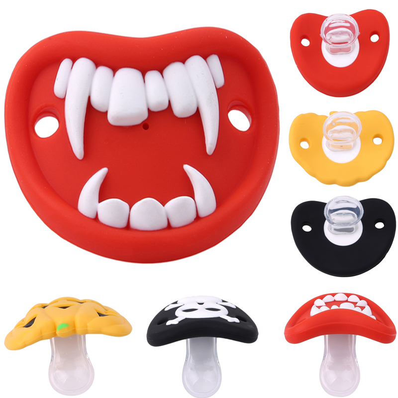 Food Grade Silicone Funny Baby Pacifiers Dummy Nipple Teethers Toddler Pacy Orthodontic Soothers Teat for Baby Pacifier Gift