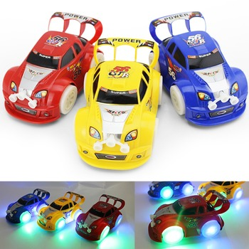 Kid's Toy Christmas Electronic Toys Automatic Steering Flashing Music Racing Car Electric Universal Baby Toy Brinquedos Car