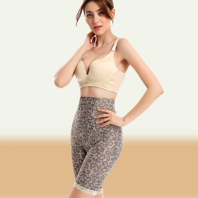 Mulheres emagrecimento corretiva underwear anti-celulite cinto calções calcinha de cintura alta impresso calcinhas slimming bainha cintura fina