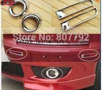 Chrome Front & Rear Fog Light Lamp Cover Trim 4pcs/set For Mitsubishi Lancer 2008 2009 2010 2011