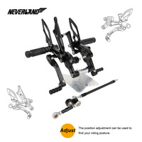 Мотоцикл подставки для ног сзади комплект Регулируемая подножки для Yamaha FZ1/FZ1 Fazer 2006 2007 2008 2009 2010 2011 2012 2013 2014 2015