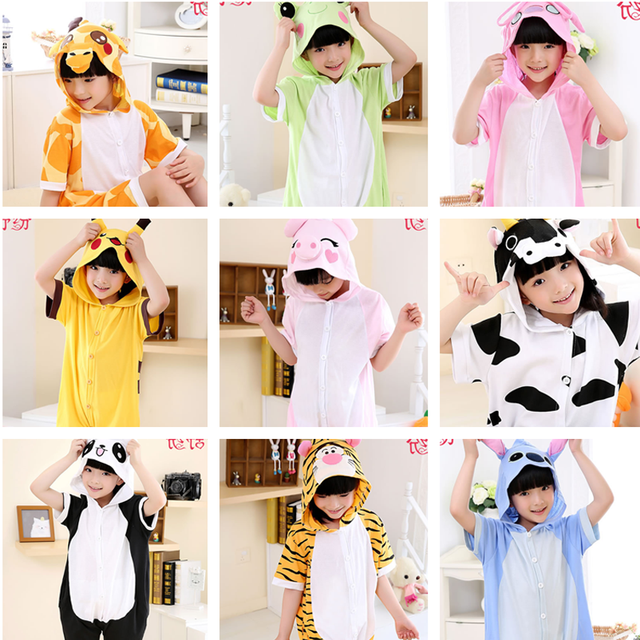 ab52b54d4c1ff Kingurumi Girls Unicorn family Pajamas Kigurumi Overalls Jumpsuit christmas  onesie Kids Children Panda Blanket Flannel Sleepers
