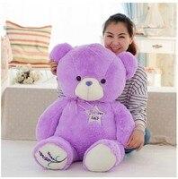Огромный фиолетовый мишка игрушка Большой Творческий Прекрасный Lanvender медведь игрушка милый медведь игрушка подарок куклу около 140 см 0145