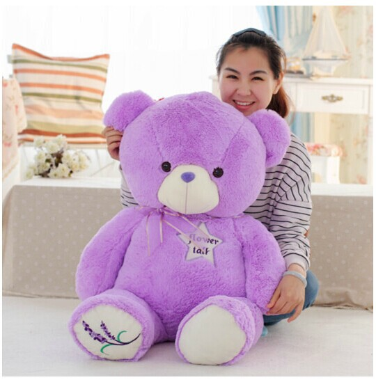 huge purple teddy bear toy big creative lovely lanvender bear toy cute bear toy gift doll about 140cm 0145 big cute simulation polar bear toy handicraft lovely white polar bear doll gift about 31x18cm