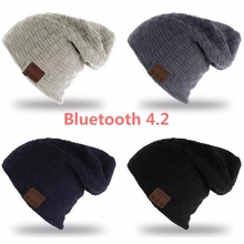 2018 теплые мягкие bluetooth4.2 Шапка-бини с наушников Динамик Hands-Free микрофон для iPhone Android сотовых телефонов Поддержка Карты памяти