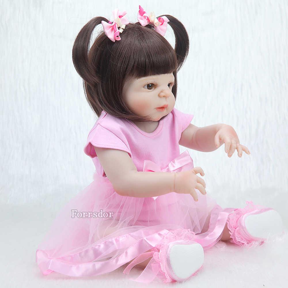22 дюйма 55 см силиконовые куклы для новорожденных для девочек, поддельные подарки, куклы для новорожденных, куклы для новорожденных