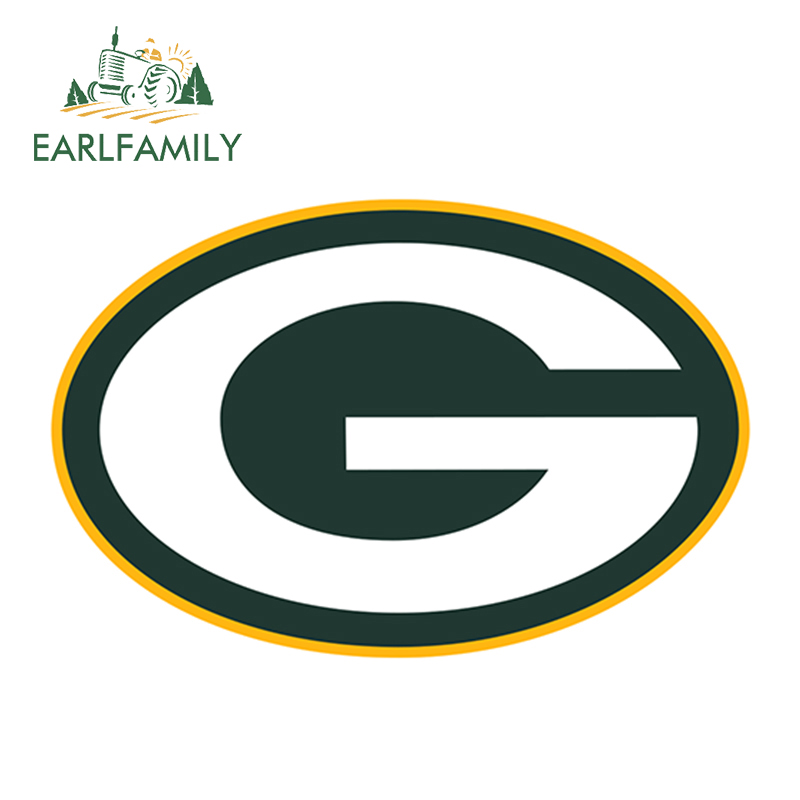 EARLFAMILY 13cm x 8.5cm Green Bay Packers Car Truck Window Decal Sticker Football Laptop Yeti Bumper Helmet Car Stickers image