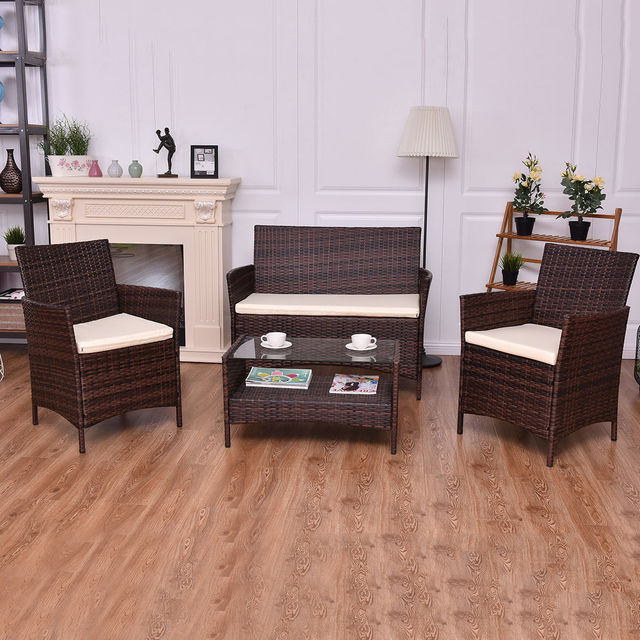 Giantex 4PCS Outdoor Patio Sofa Set  4