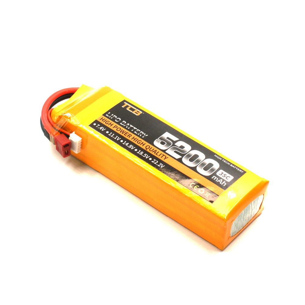 TCB 5s lipo battery 18.5 V 5200mAh 35C 5s for rc airplane  high-rate cell  Quadrotor 1s 2s 3s 4s 5s 6s 7s 8s lipo battery balance connector for rc model battery esc