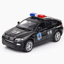 ZXZ 1:32 Scale Diecast Alloy Metal Car Model MINI suprecar X6 Collection Model Pull Back Car Toys for children(China)