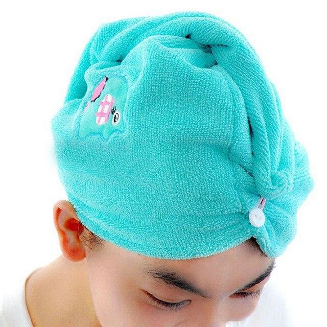 nette super absorbent reizende haar handtuch turban haartrockner
