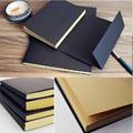 Vintage Kraft Paper Blank Pages Sketchbook School Supplies Diary Drawing Book Travel Notebook Office Stationery