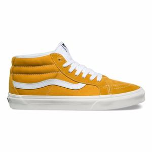 5a1af0e72a82 Vans Sk8 Women Skateboard Shoes Authentic Mid Classic wild Yellow Sunflower  Couple