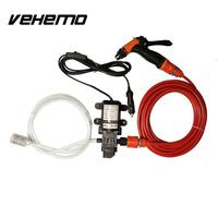 Portable 70W 130PSI High Pressure Self Priming Car Wash Water Pump 12V Clean Set